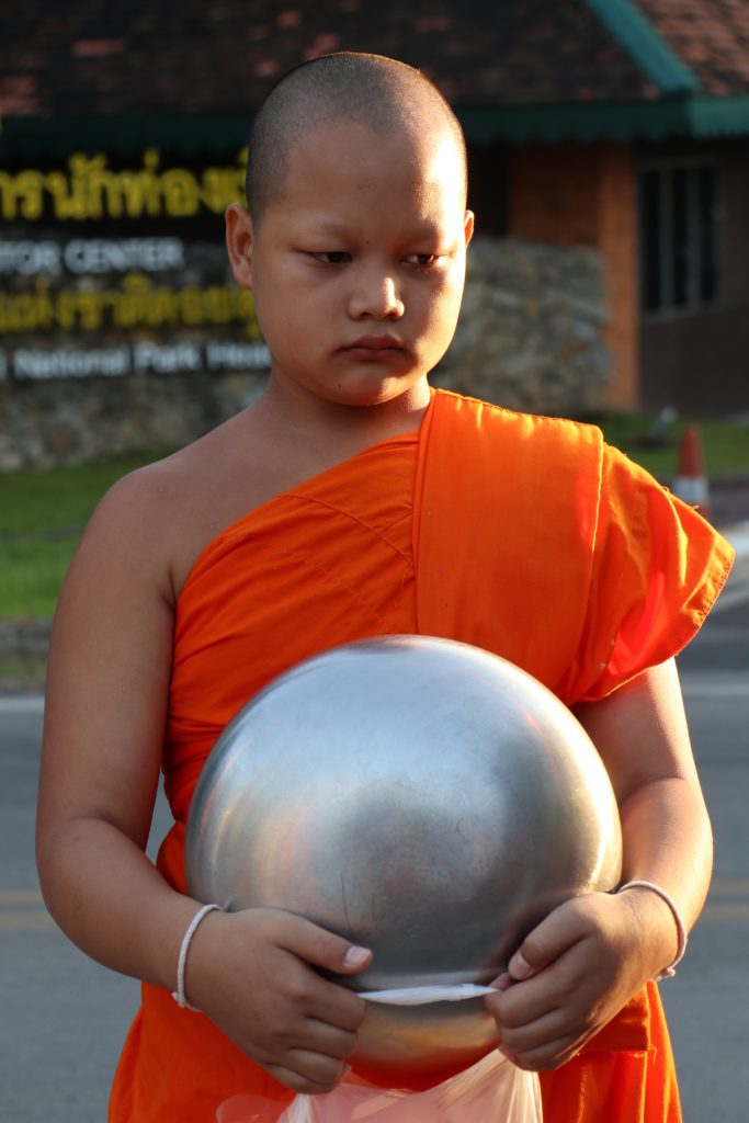Young monk Chang Mai, Thaliand