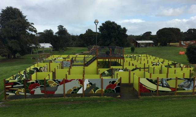 The maze was great for the kids. Image: supplied.