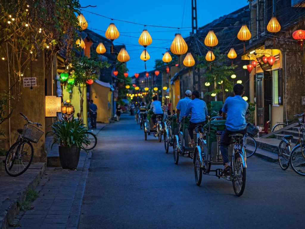Hoi An old town's charming streets are filled with tailors' shops.
