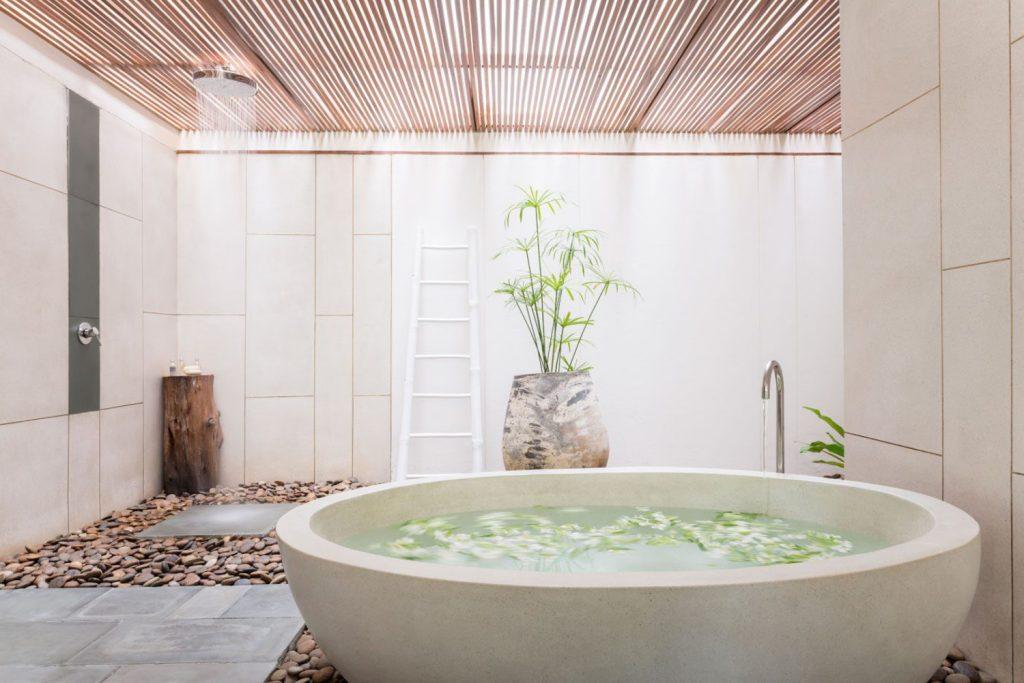 The incredible spa bath inside the The Sarojin, Khao Lak, Thailand.