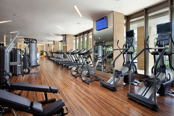 Sweat at the state-of-the-art gym.