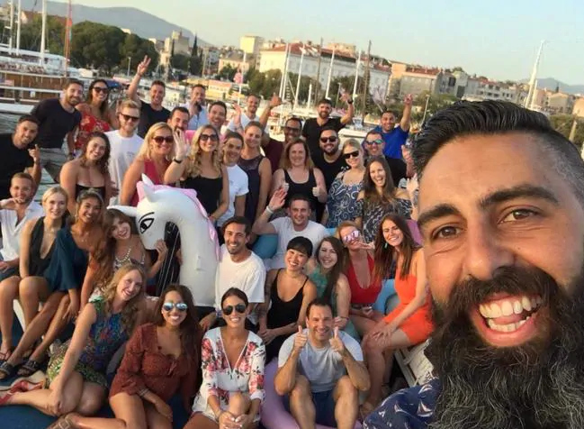 Chris Tabone started Koda Sail after learning the travel industry as a Contiki guide.Source:Supplied