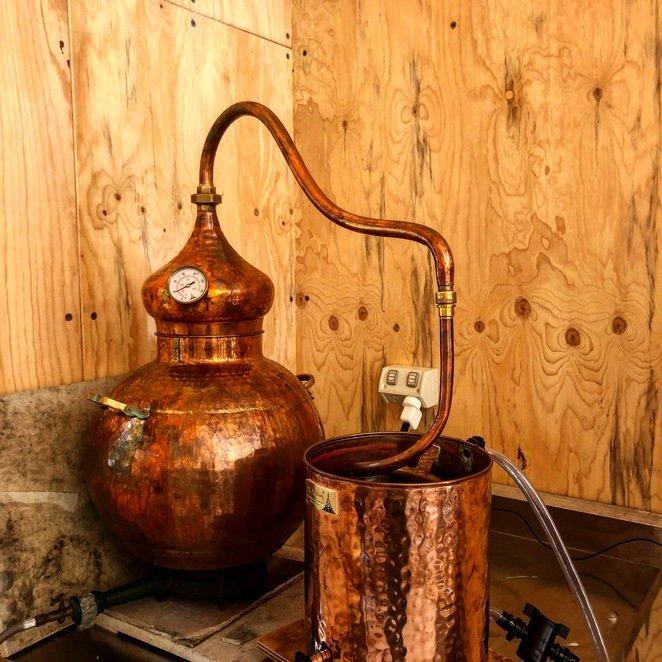 The glorious copper distillery