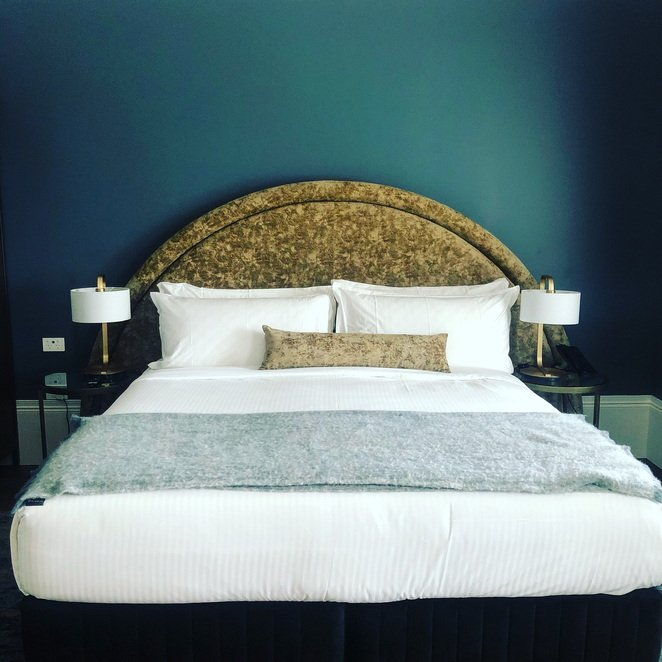 Luxe bed at the Albert Hotel